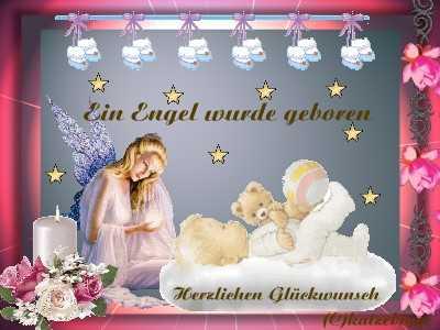 Ein Engel wurde geboren. Herzlichen Glückwunsch